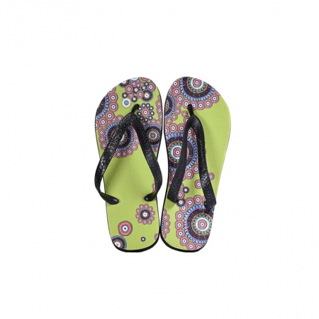 LINA flip-flopy bledo zelené